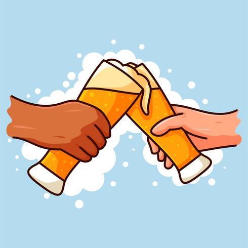 les gars buvant de la bière