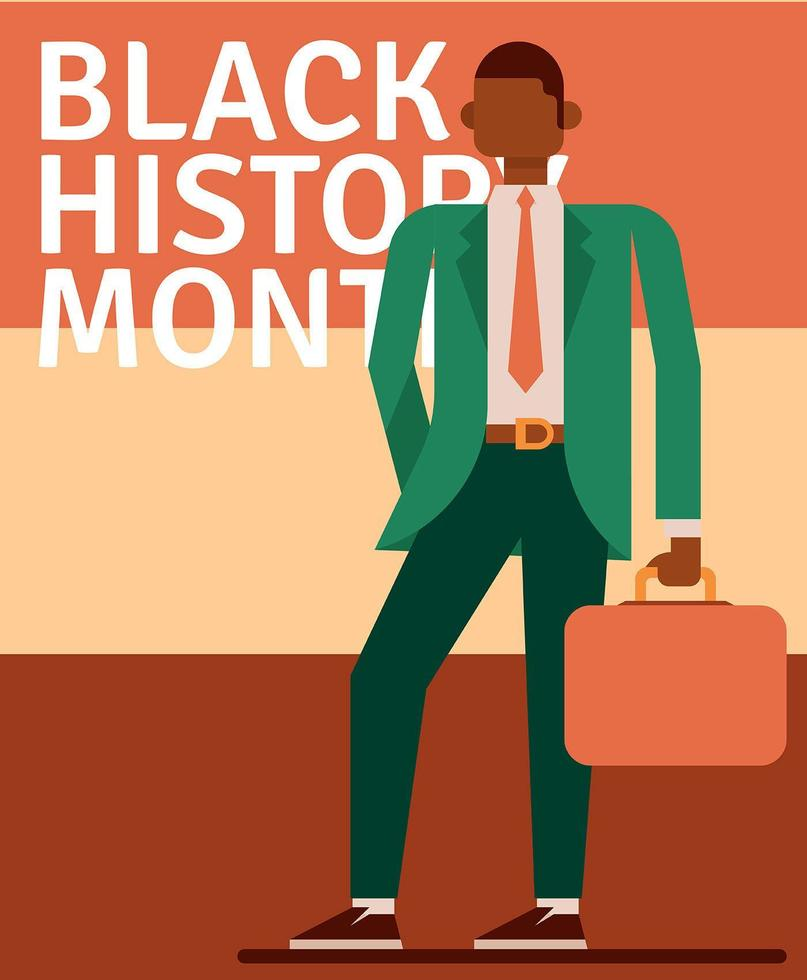 Black History Month Illustration vector