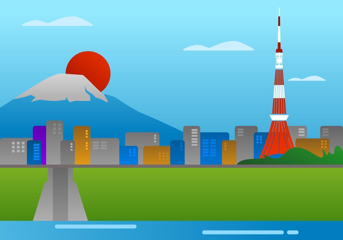 Erstaunliche Tokio-Vektoren