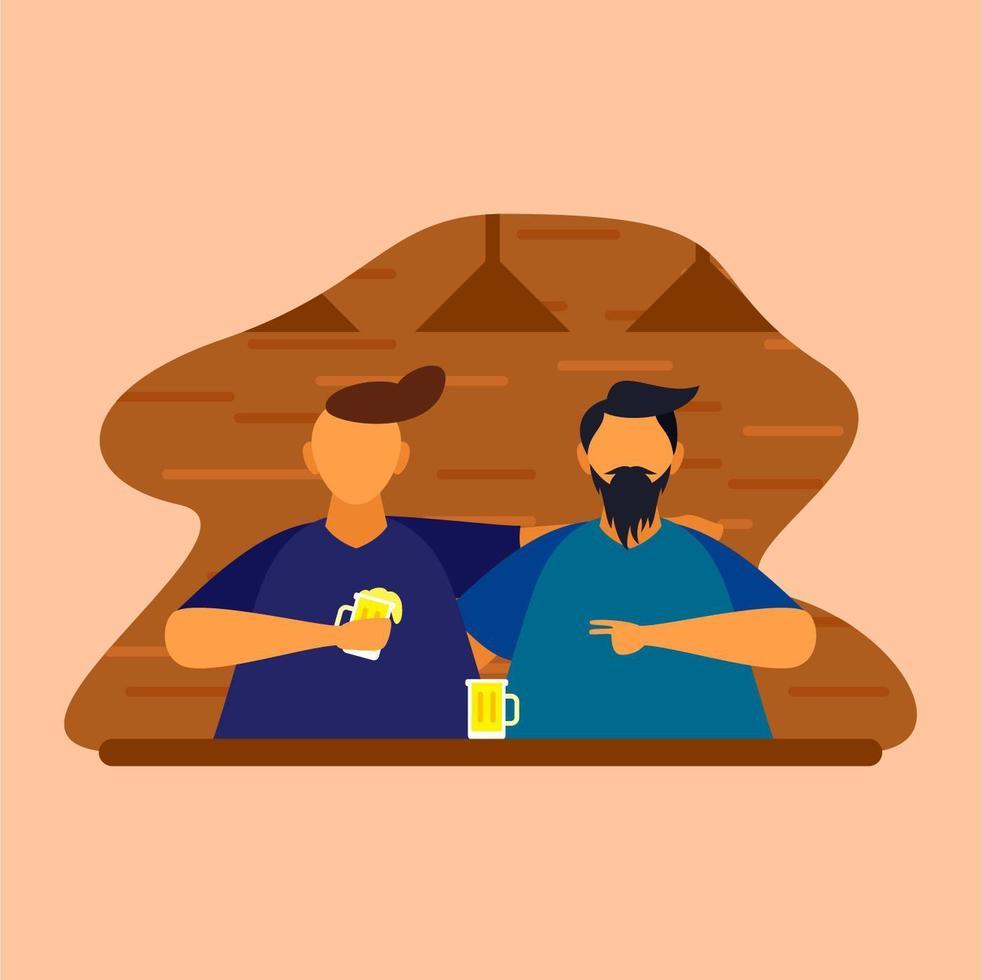 guys drinking beer vettore