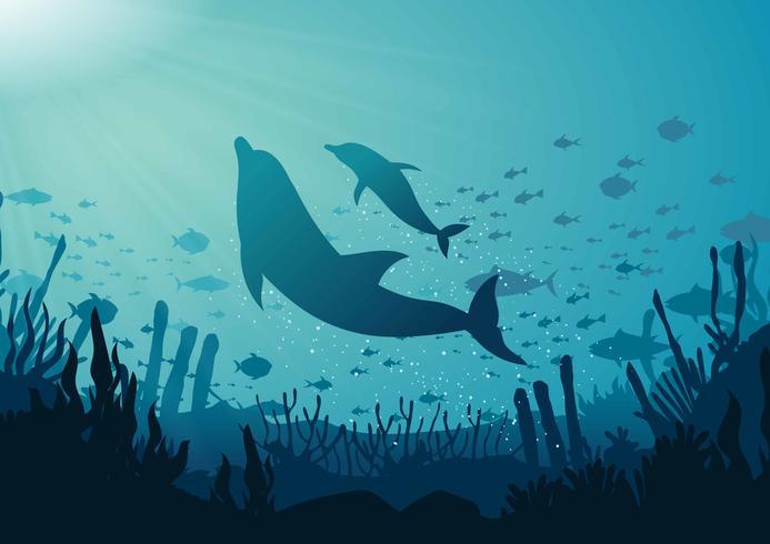 Blauwe oceaan achtergrond