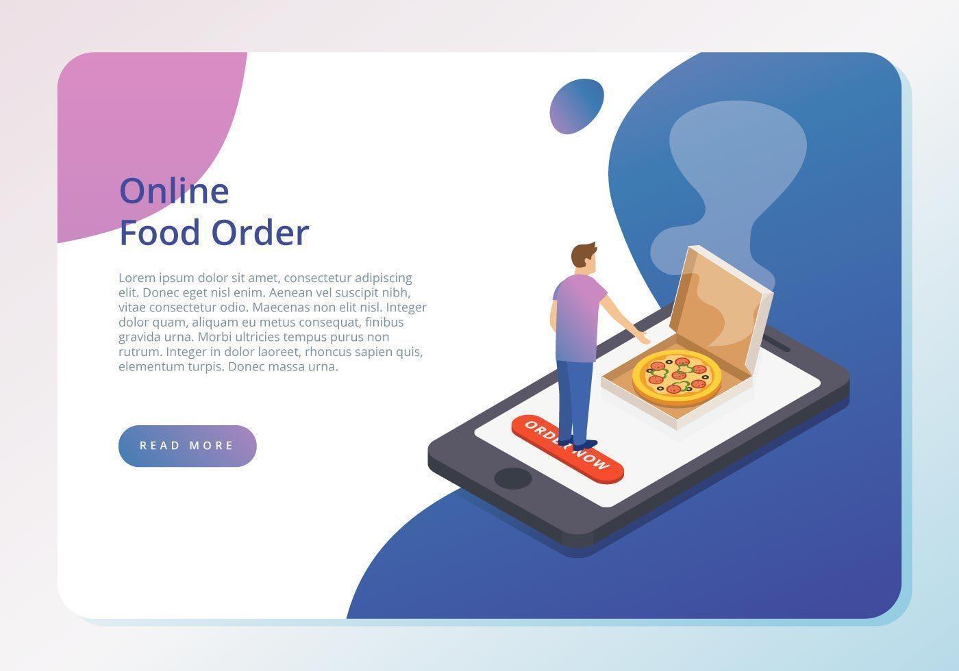 Online Food Order Concept vecteur
