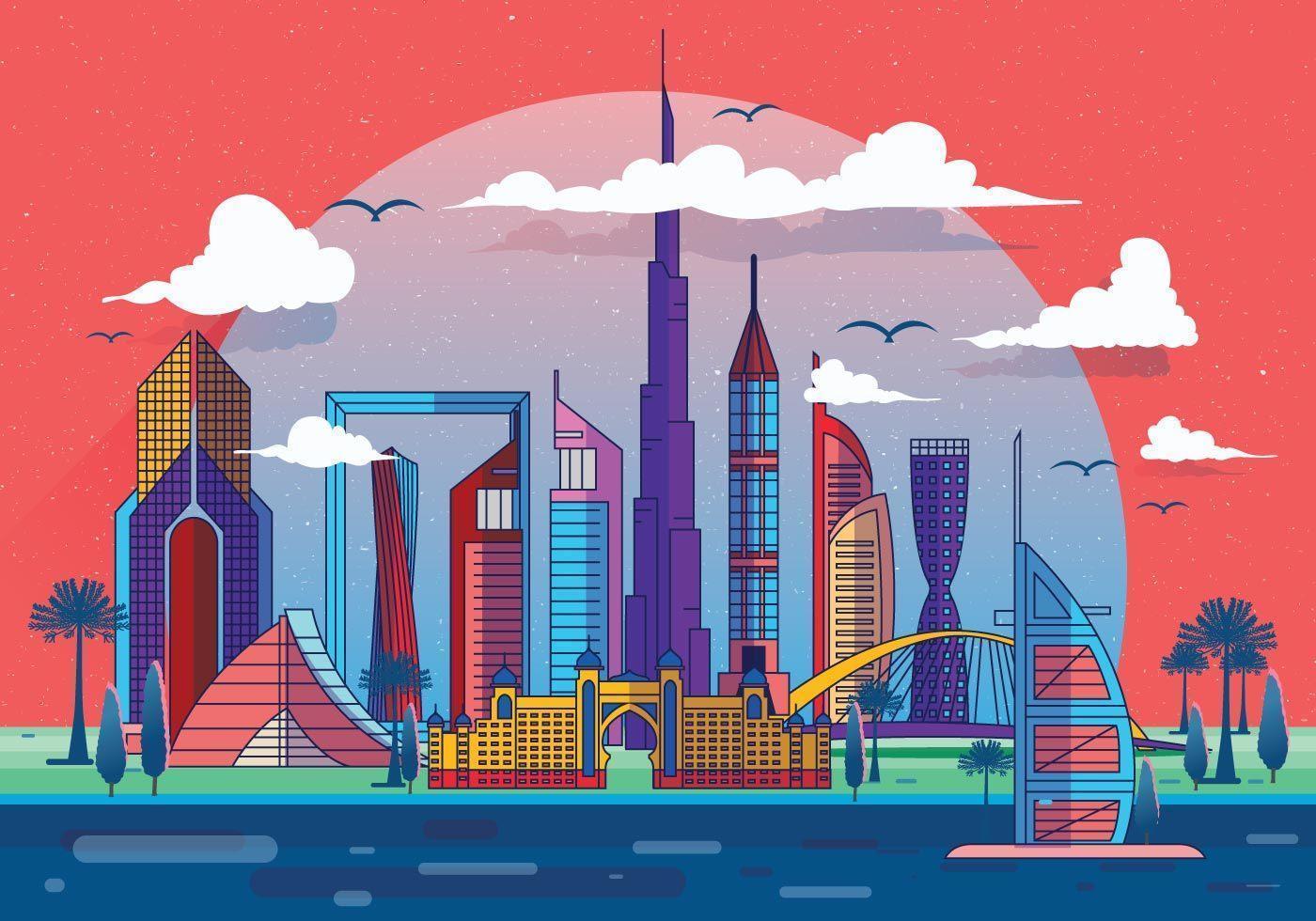Vetor de marco de Dubai
