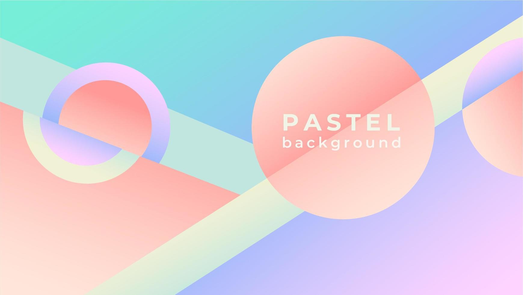 Papel pintado geométrico en colores pastel