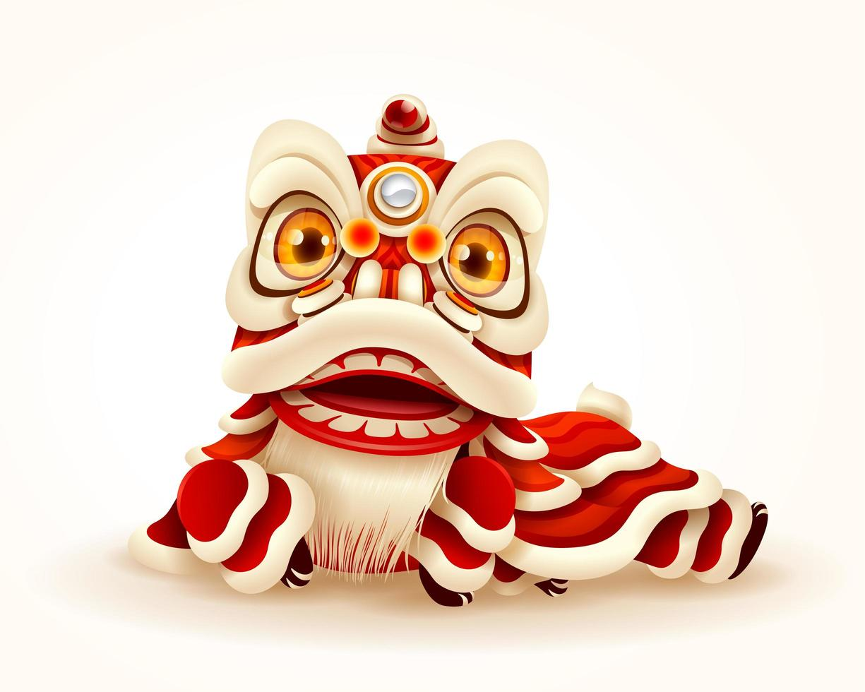 Chinese New Year Lion Dance vecteur