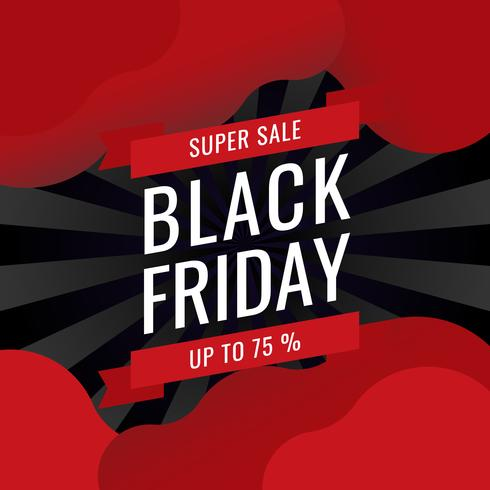 Black Friday Banner Sale Inscriptie beste ontwerpsjabloon