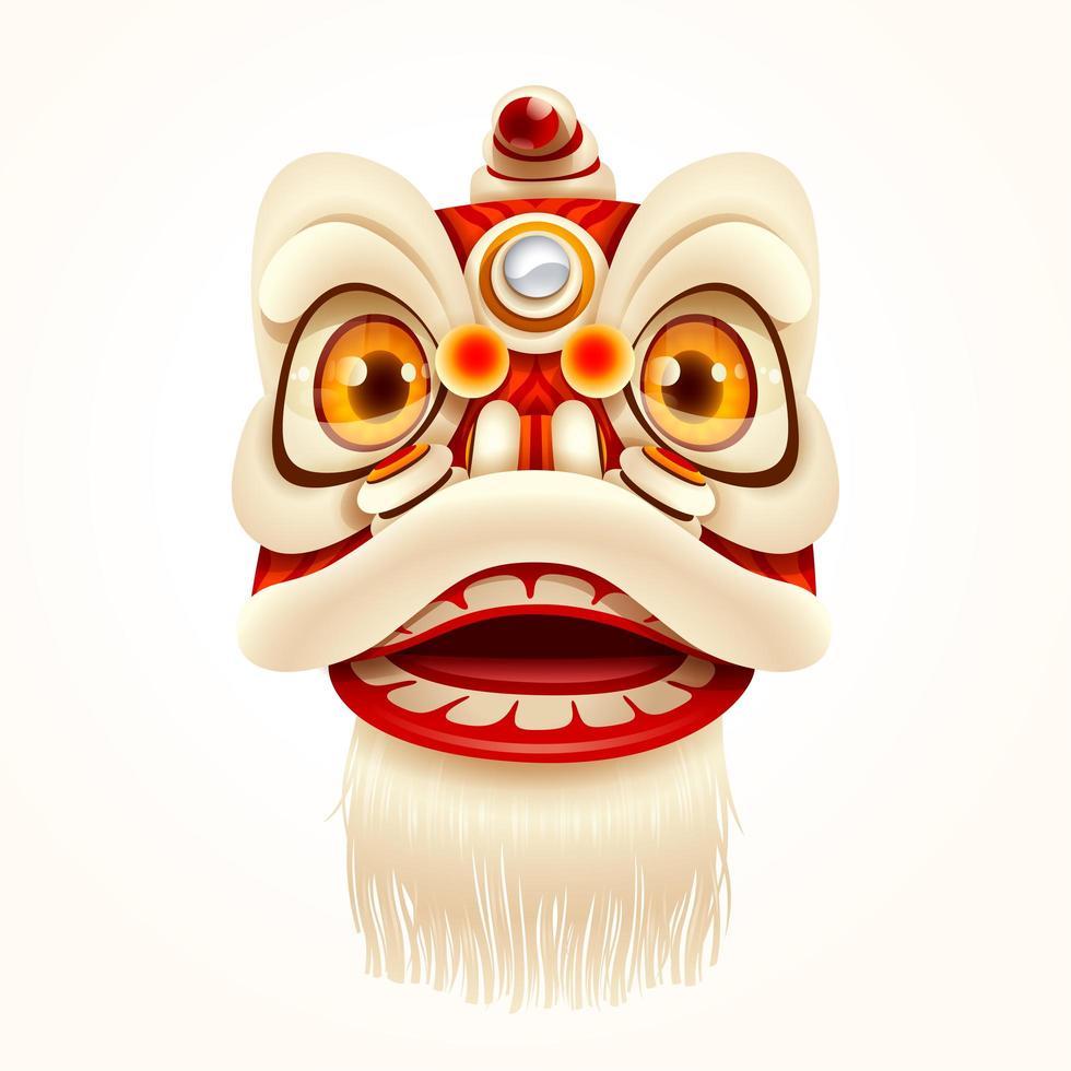 Chinese New Year Lion Dance Head vecteur