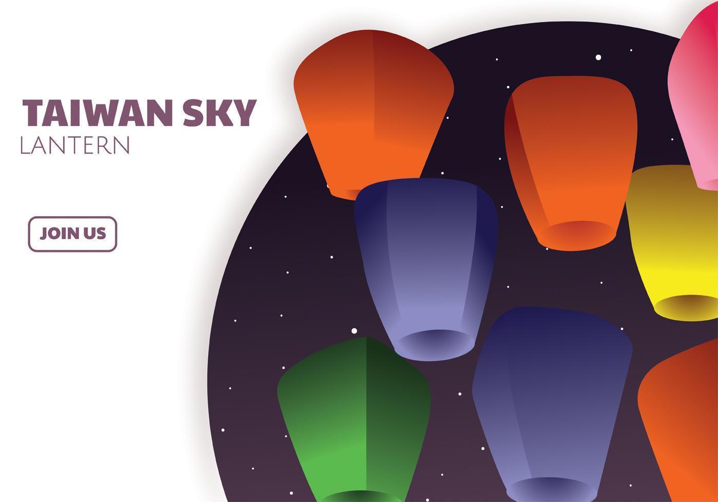 Disegno vettoriale di Taiwan Sky Lantern