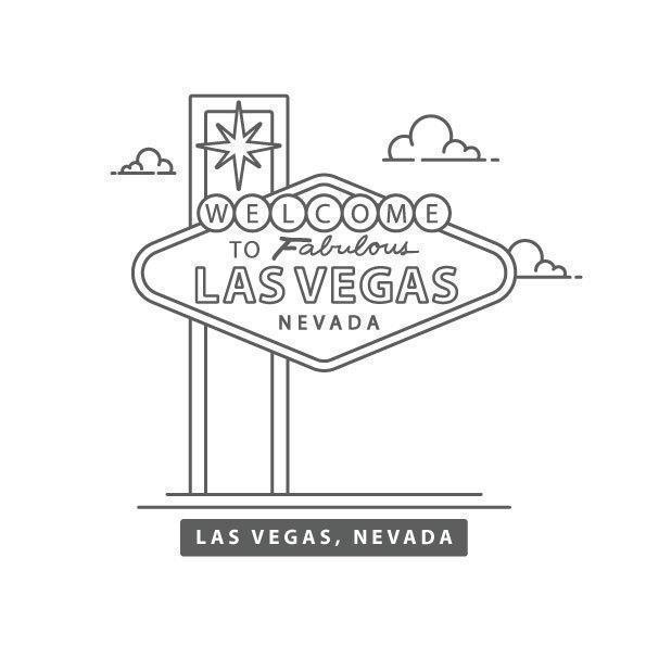 Bienvenido a Las Vegas Sign Line Vector