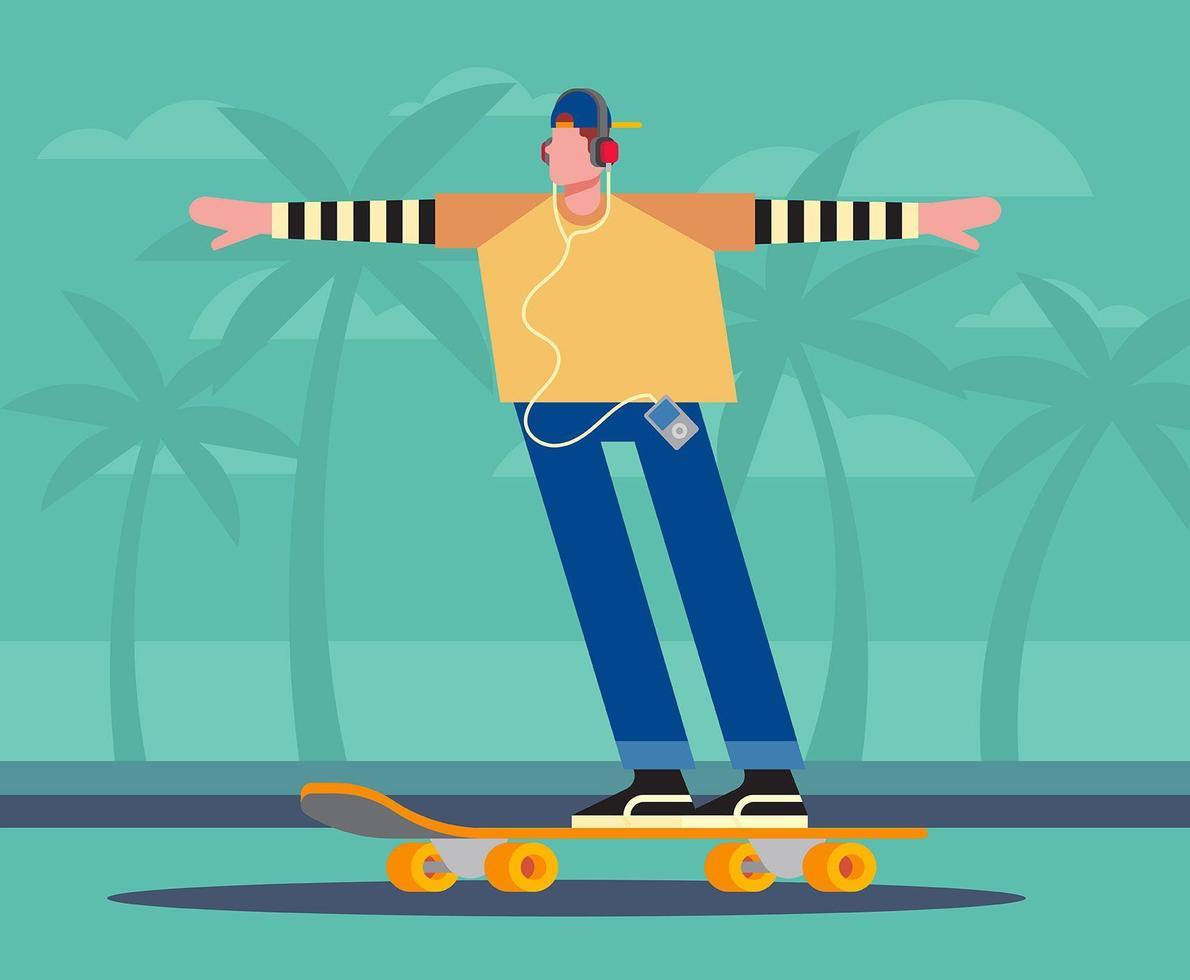 Beach Activities Illustration
