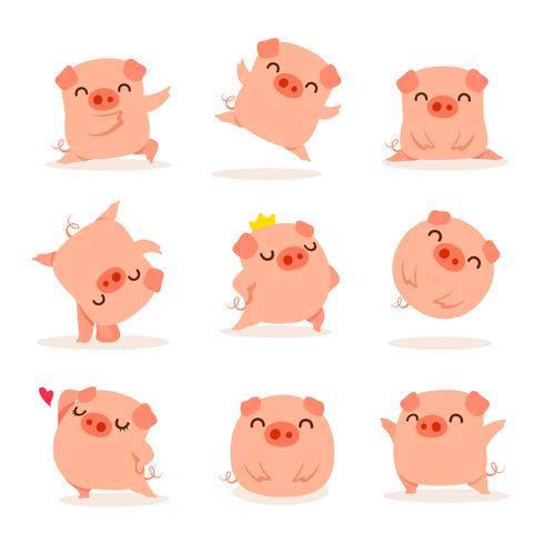 Verzameling van kleine piggy
