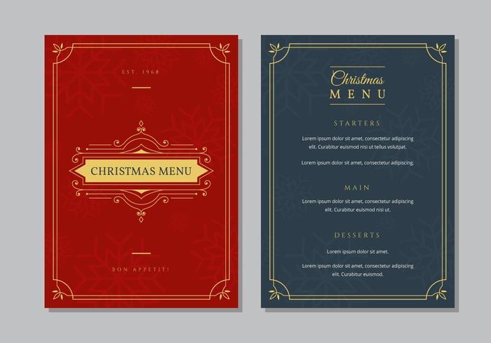 Modelo de jantar de menu de Natal