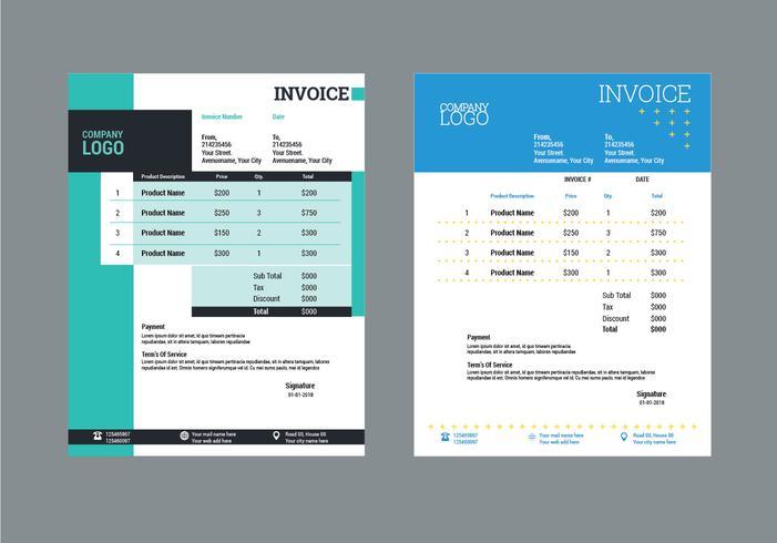 Diseño de plantillas de facturas modernas para negocios