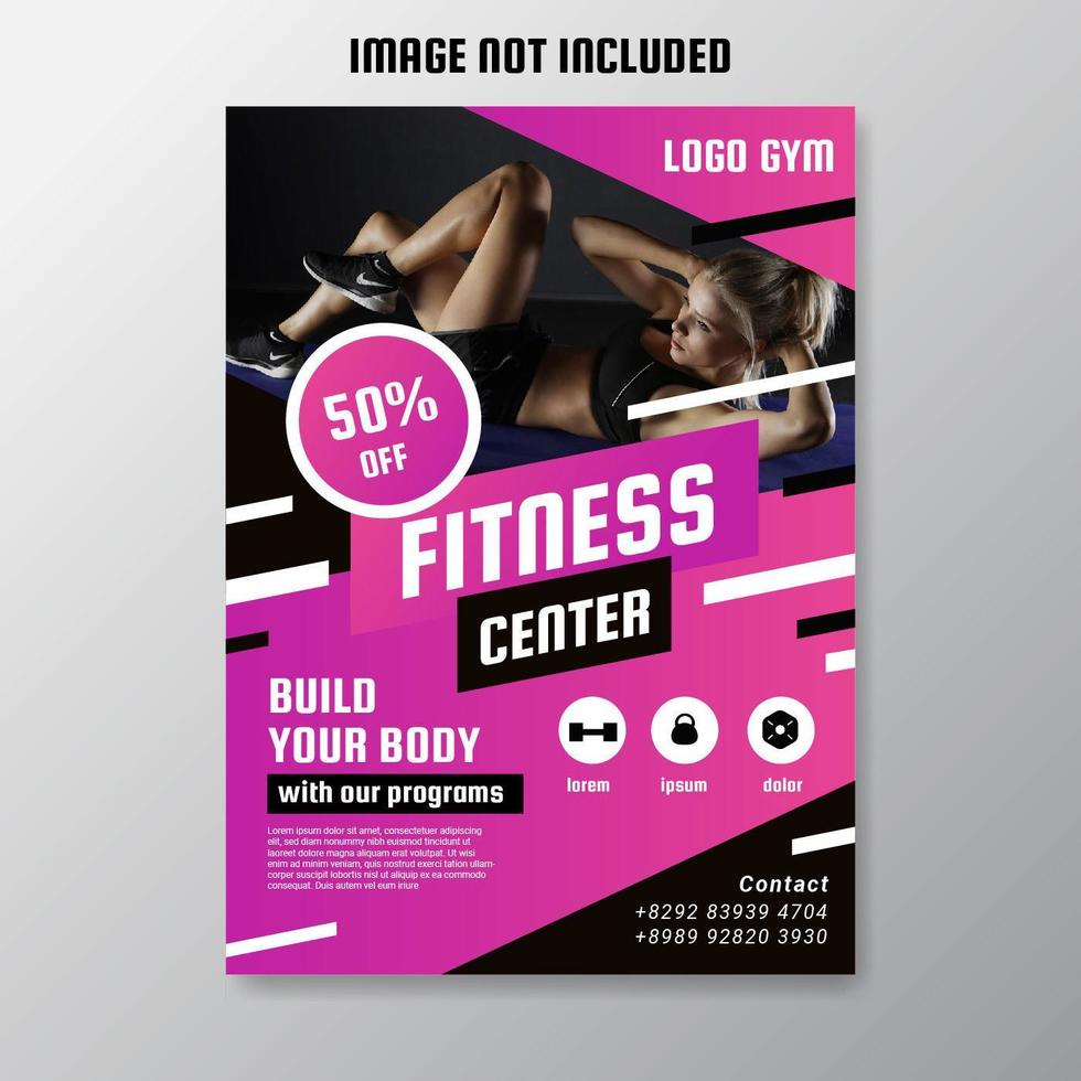Fitness Center Flyer Vector Download Free Vectors Clipart Graphics Vector Art