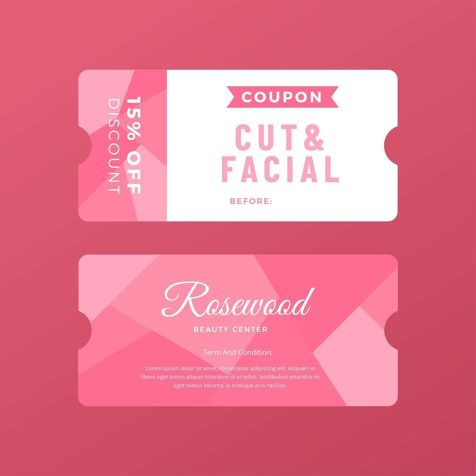Coupon Template | Beauty Care Coupon Template Download Free Vector Art Stock