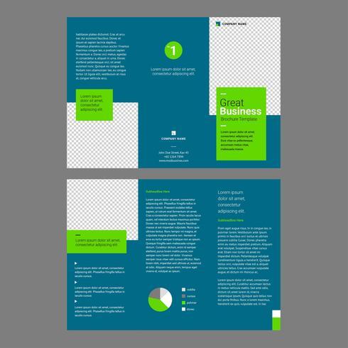 Modèle de Brochure de professionnel turquoise