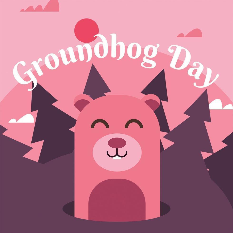 groundhog day vector ontwerp
