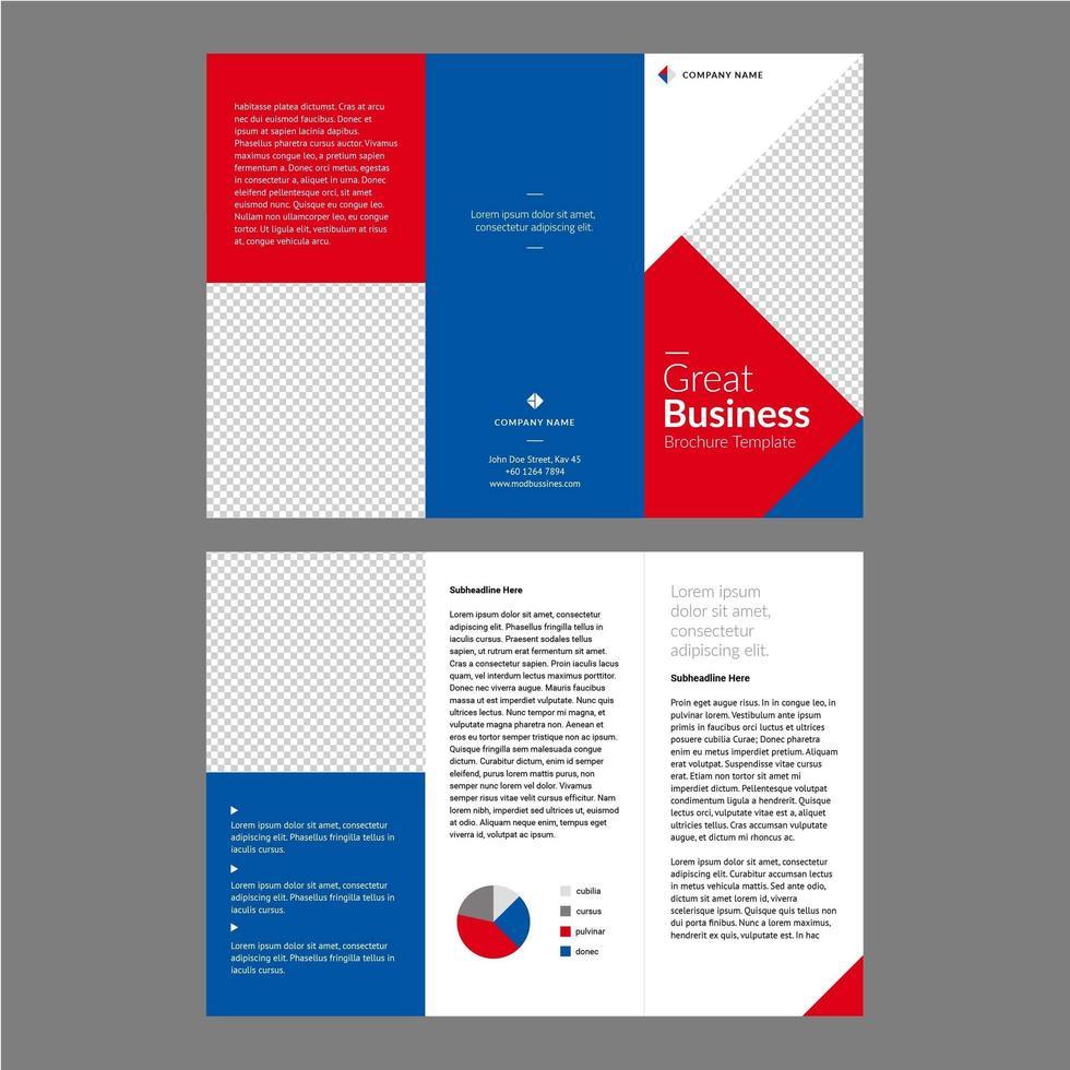 Modèle de Brochure de professionnel bleu rouge