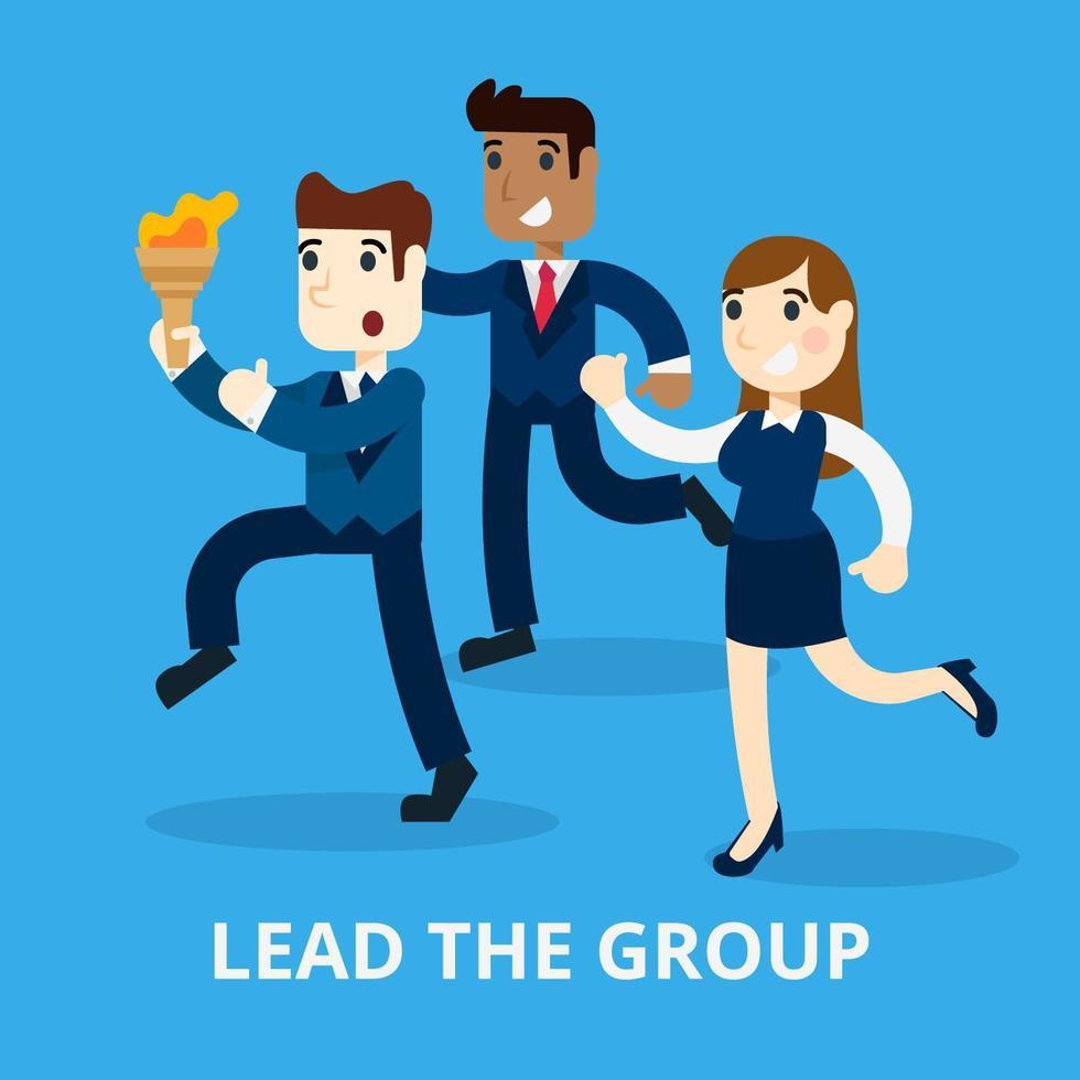 Leadership Concept vecteur