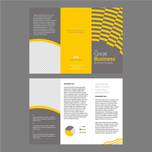 Modèle de Brochure de professionnel jaune gris