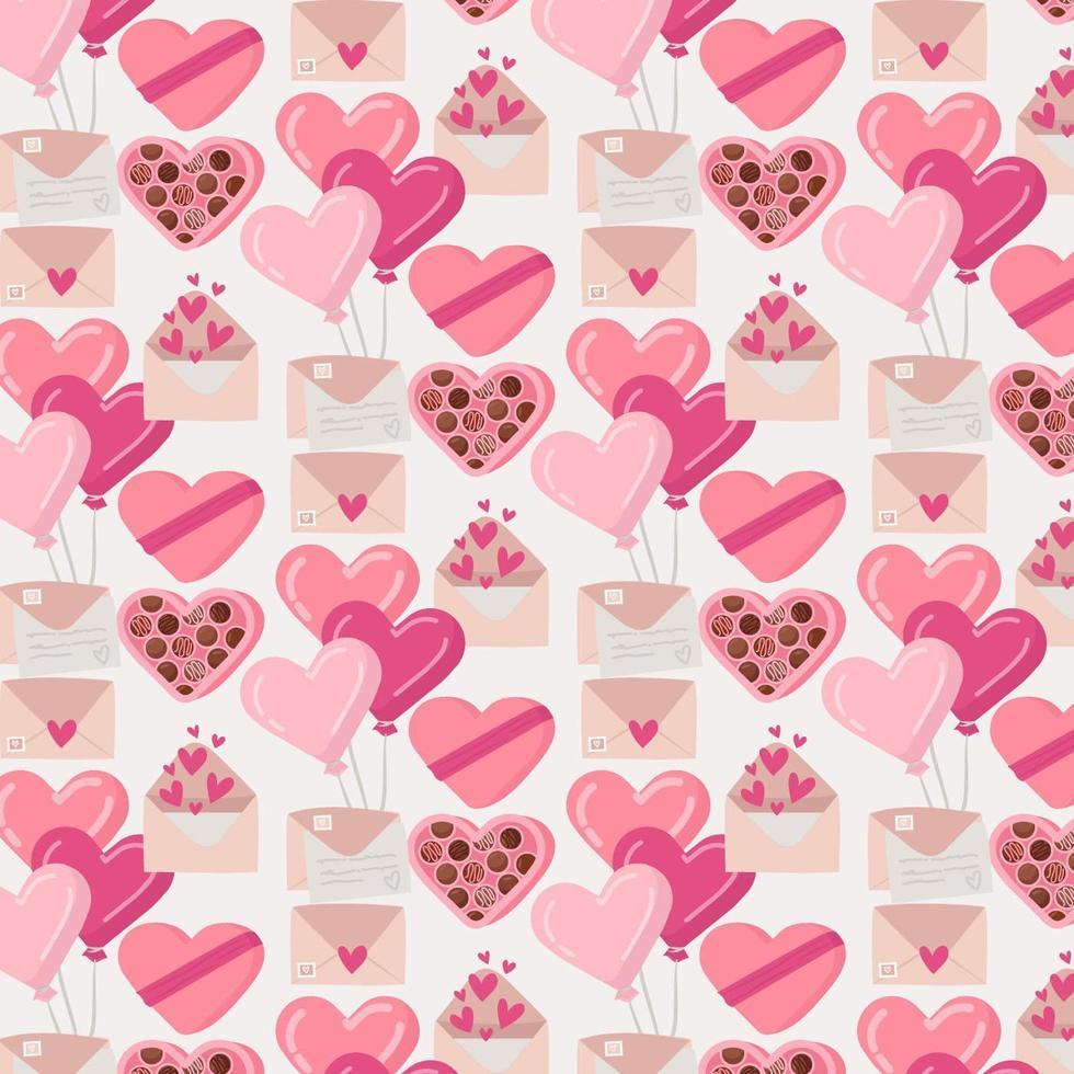 Vector Valentijnsdag naadloze patroon
