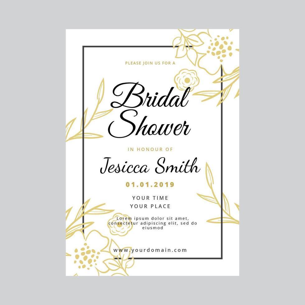 Brautduschen-Einladungs-Vektor-Schablone