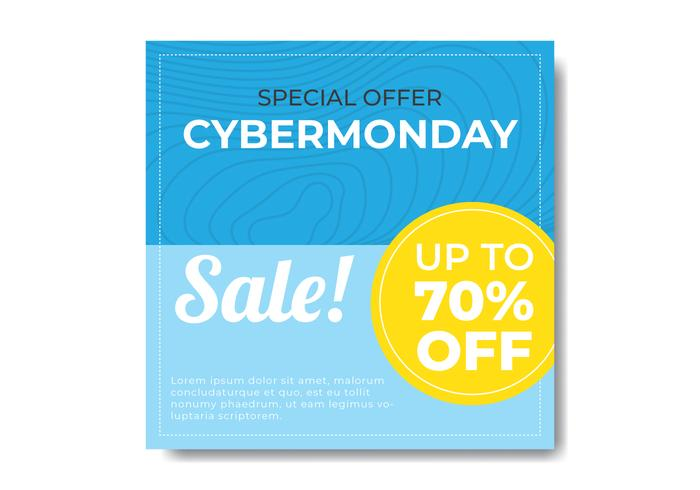 Banner Minimalista do Cyber Monday