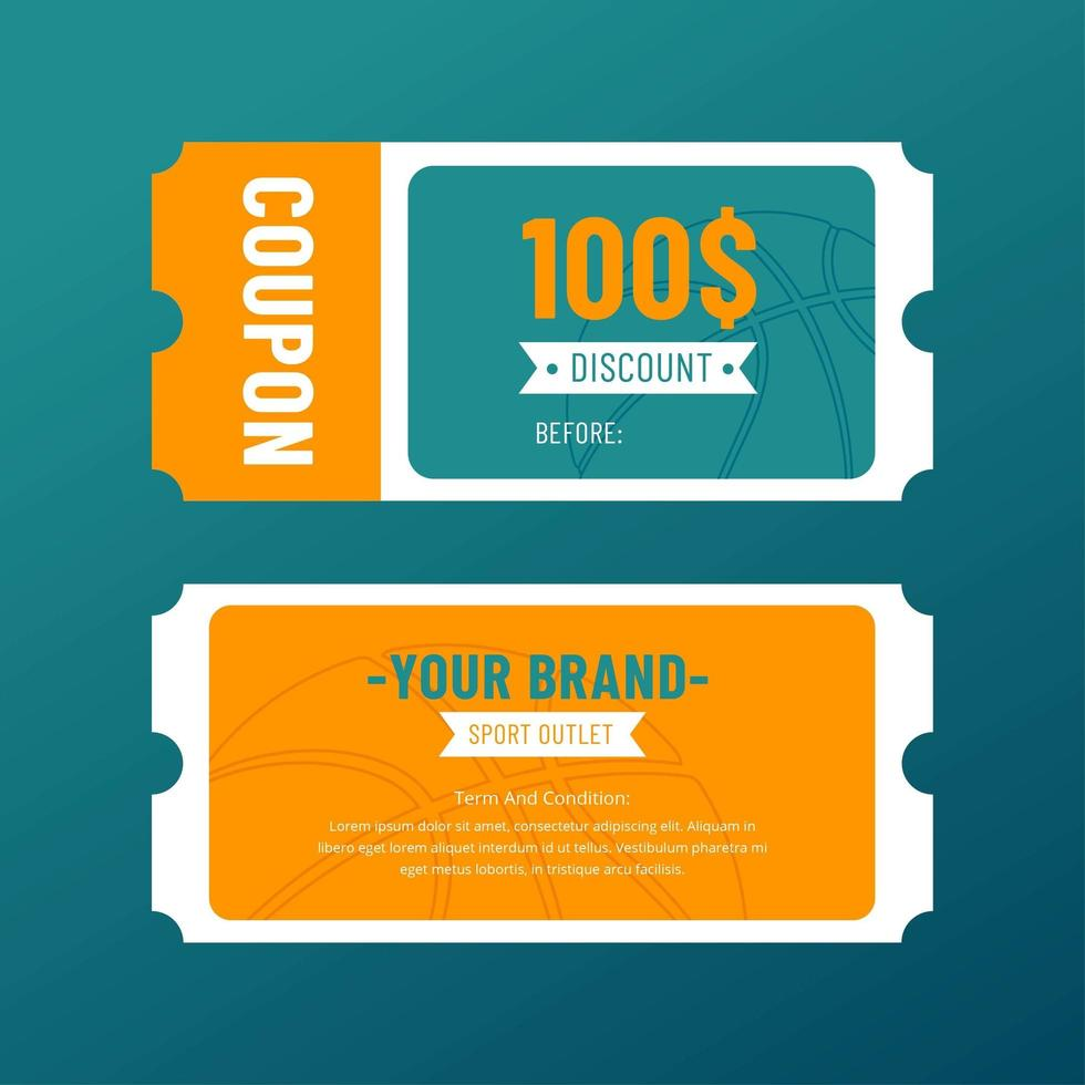 Sport Outlet Coupon Discount Template