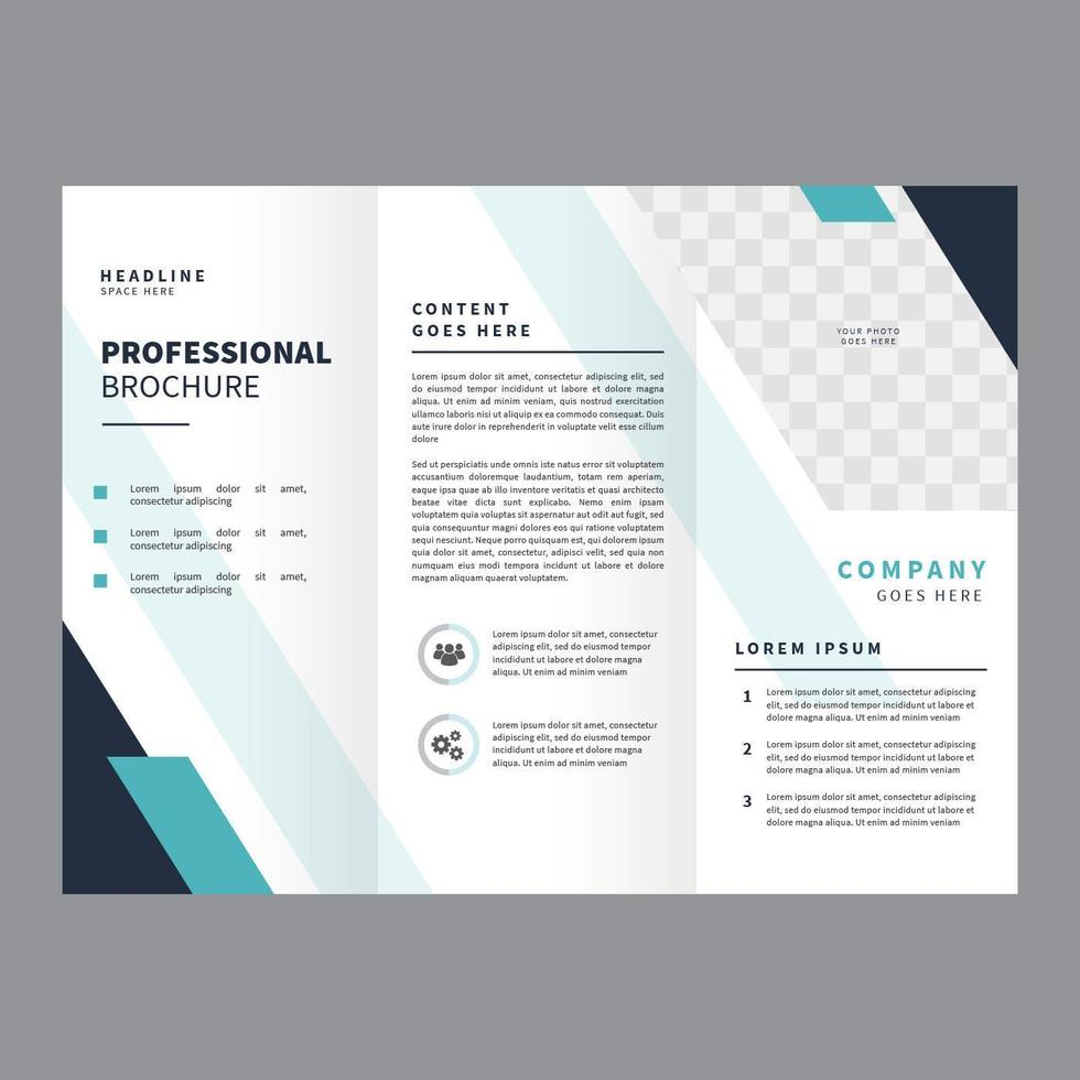 Professionele brochure Vector sjabloon