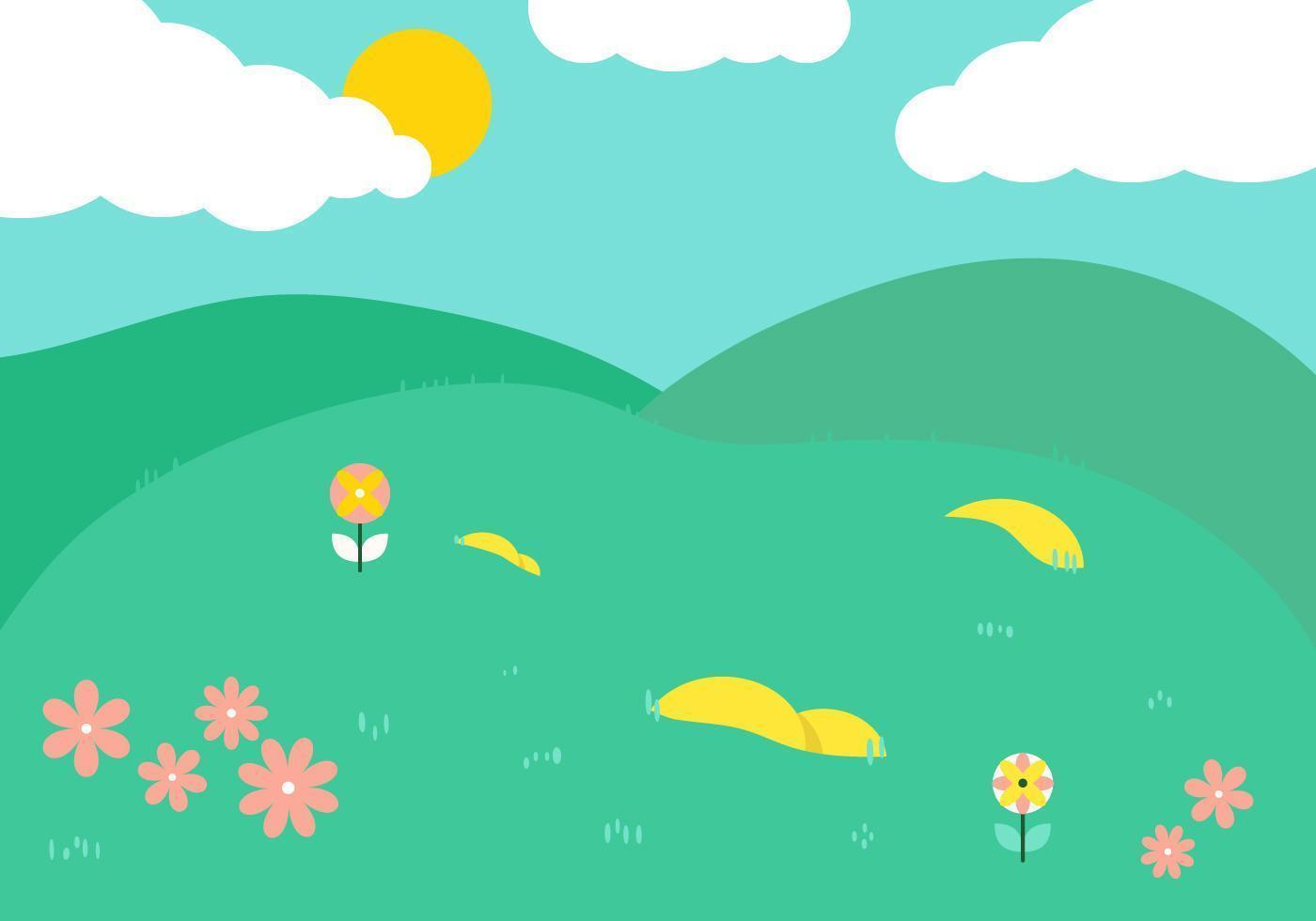 Frühling grüne Hügel