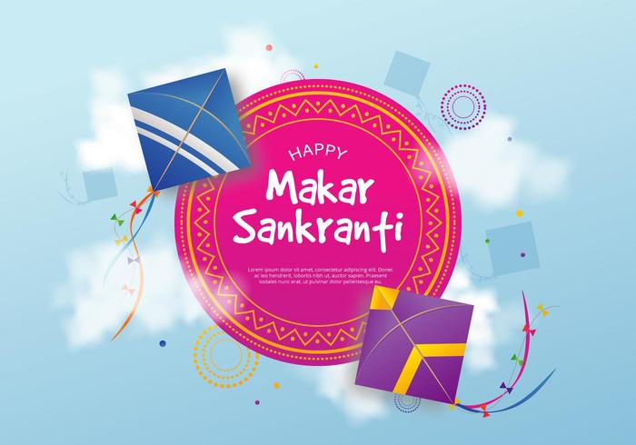 Makar Sankranti Illustration Vect