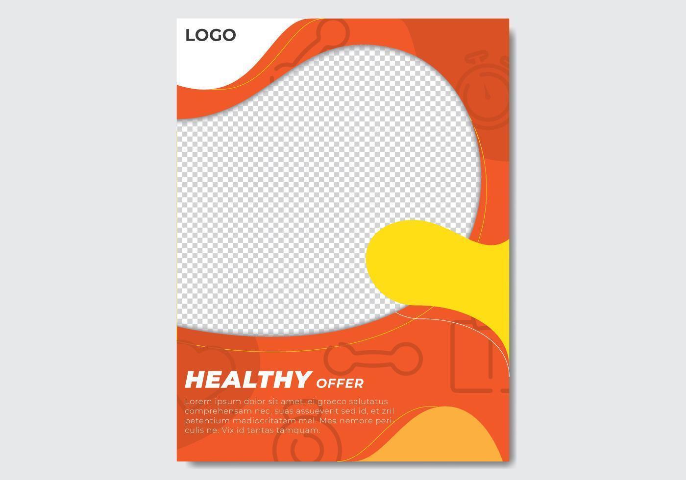 Flyer abstrait orange