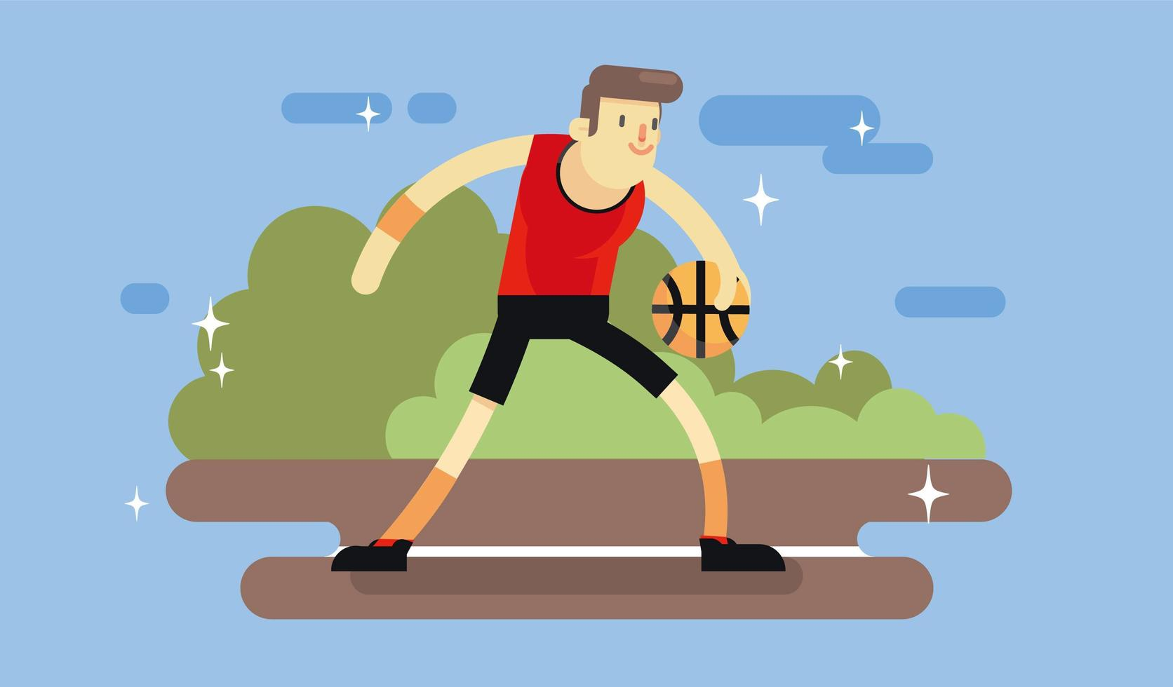 Vecteur de basket