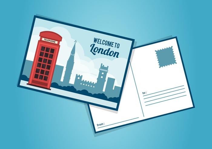 Modèle de carte postale londonienne