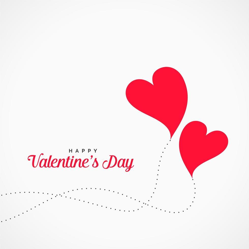 Fondo de día de San Valentín de diseño de corazones voladores