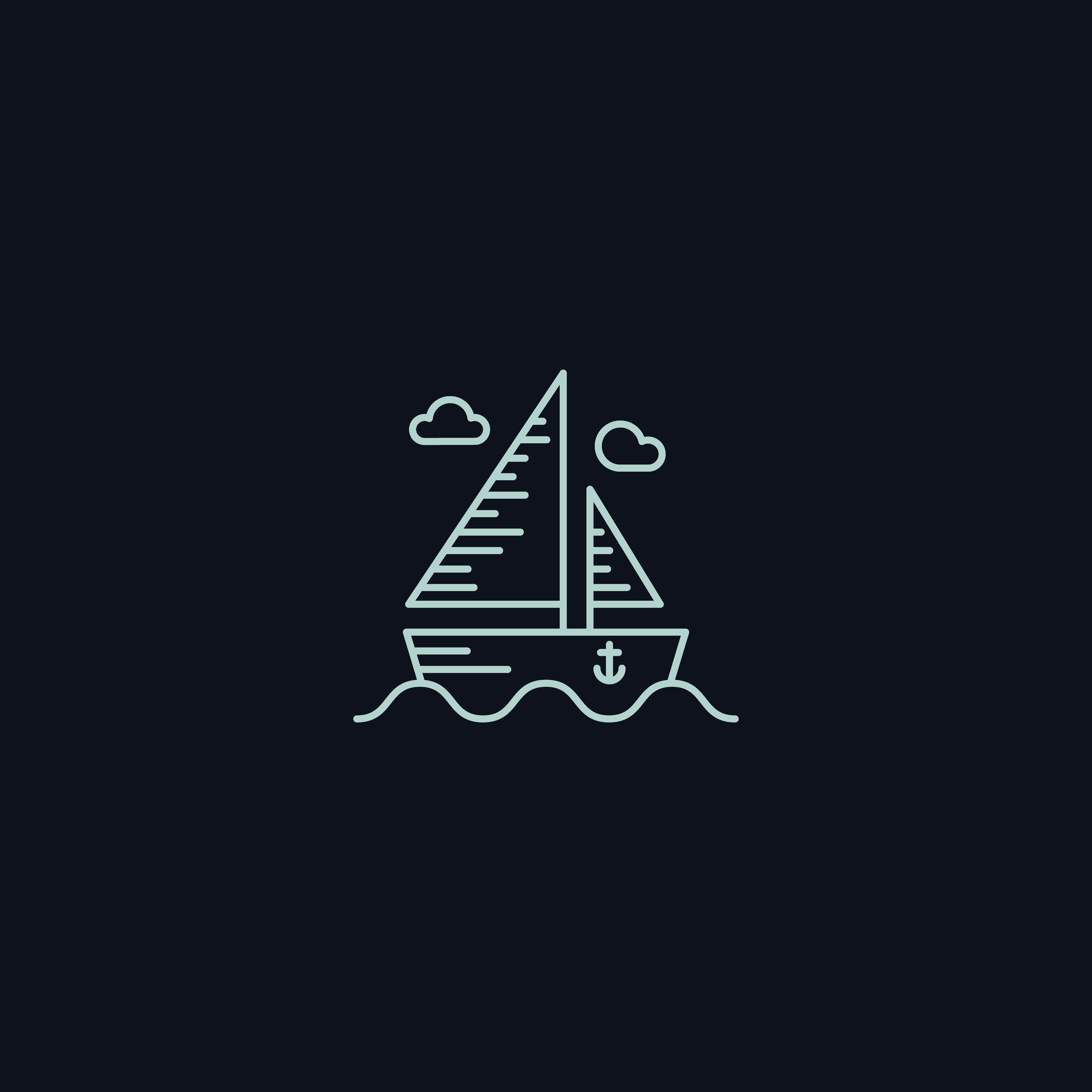 Line Symbol, Boat on sea - Download Free Vectors, Clipart ...