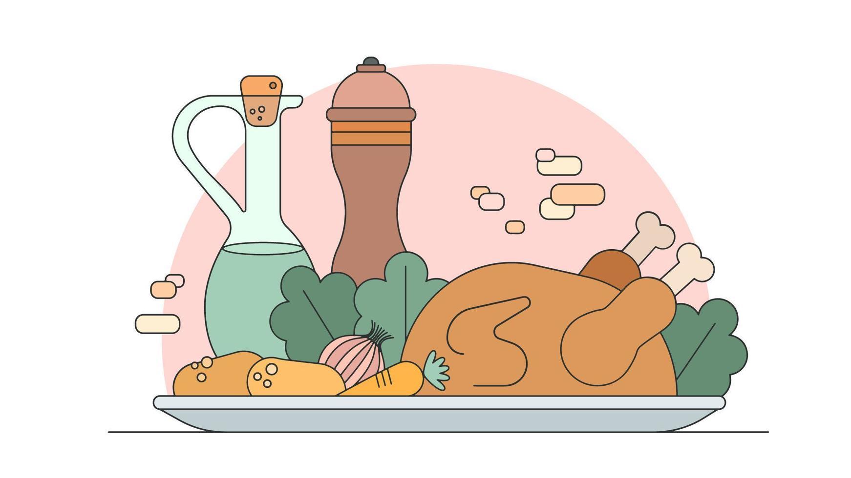 Kyckling för middag Vector