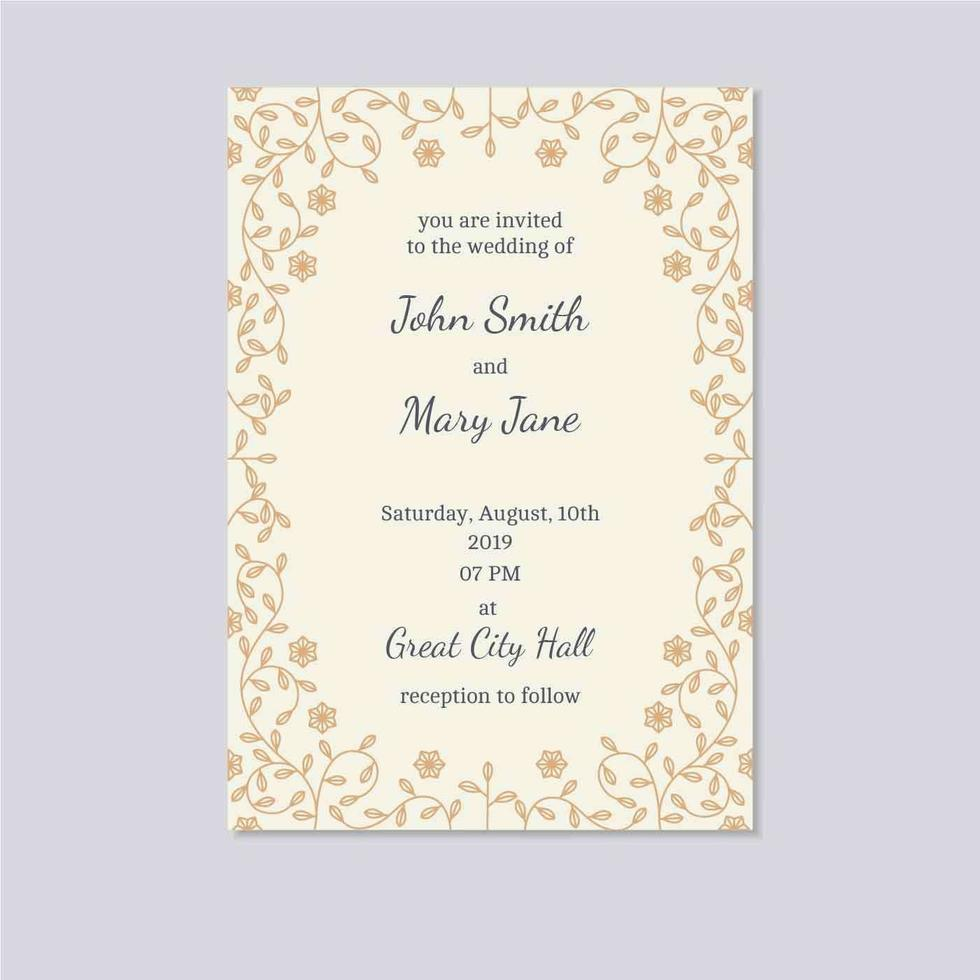 Wedding Invitation Card Vector Download Free Vectors