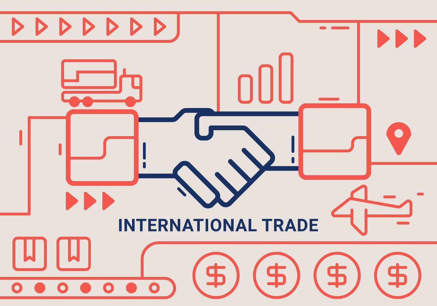 Vetores de negócios internacionais impressionantes
