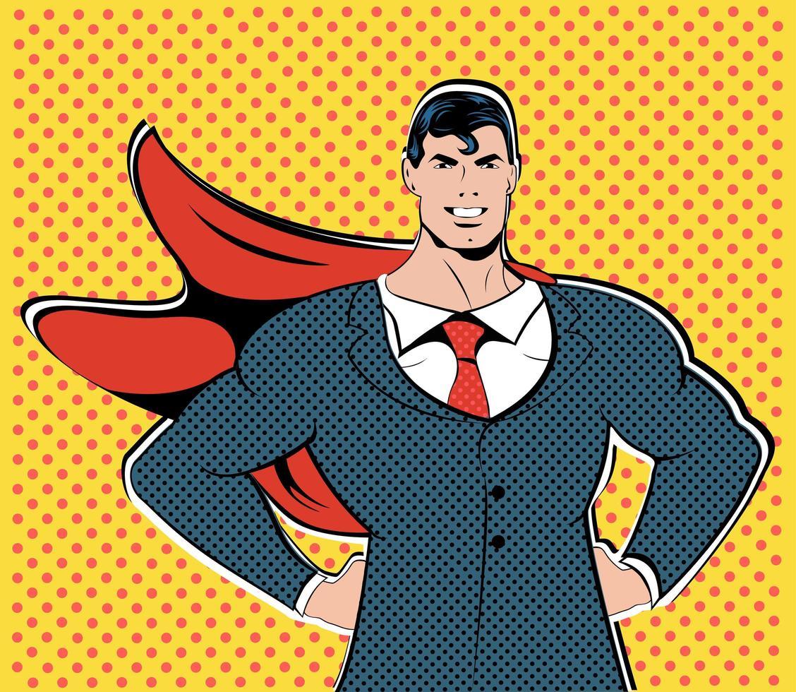 Concept d'affaires de vol d'affaires homme d'affaires super-héros