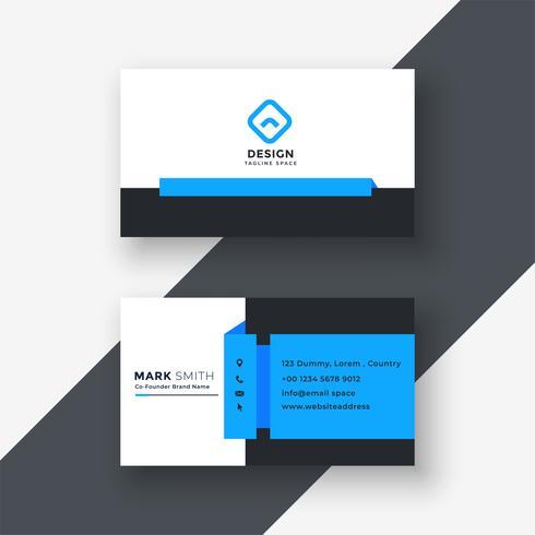 design profissional azul geométrico do cartão de visita