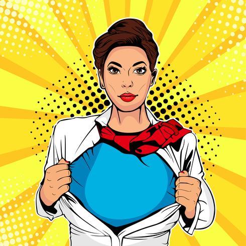 Pop art superhéroe femenina