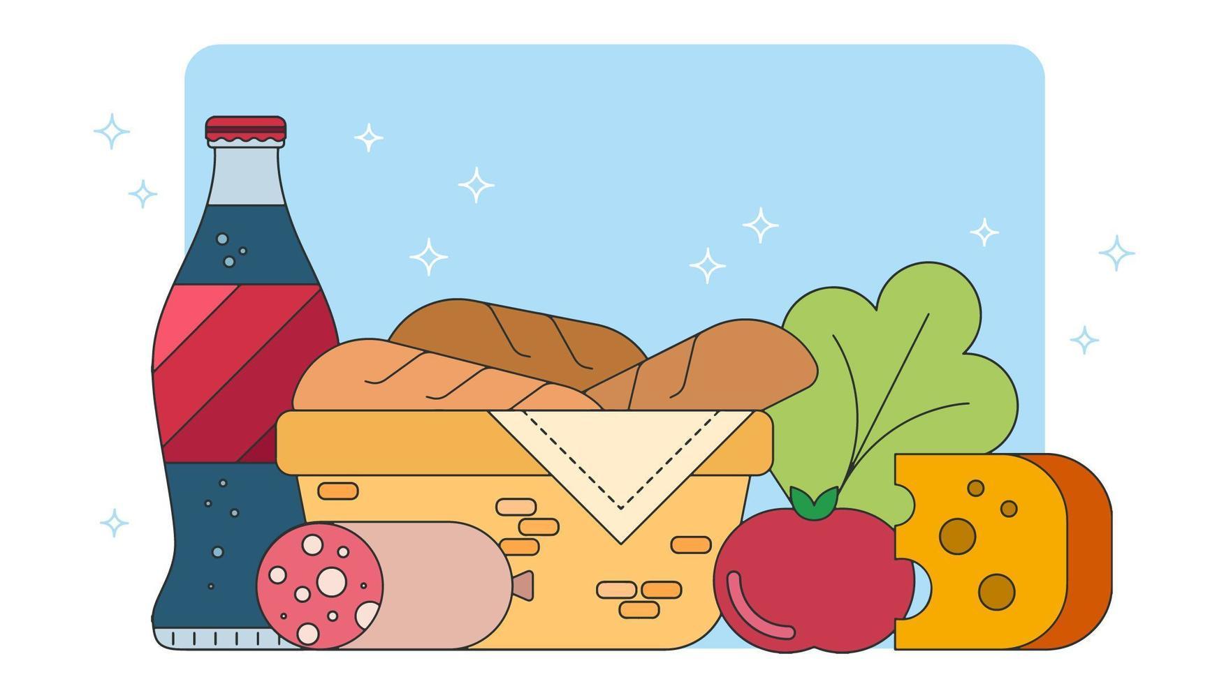 Vecteur Sandwiches Picnik