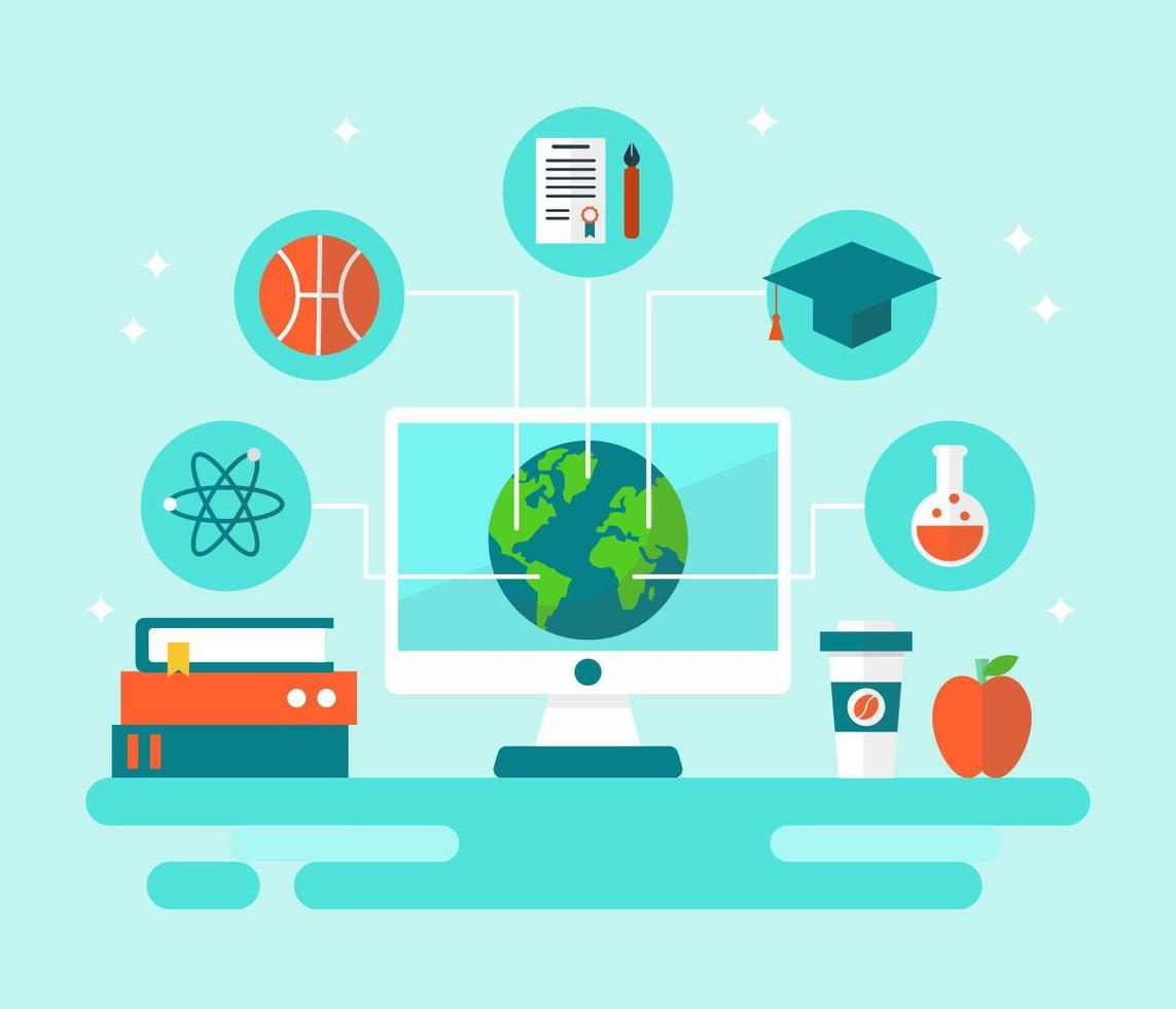 Global Education Student Exchange Vector