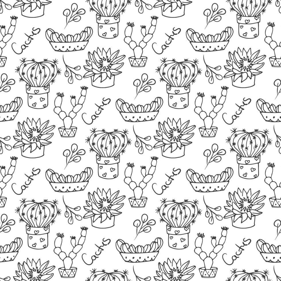 Cactus naadloze patroon illustratie