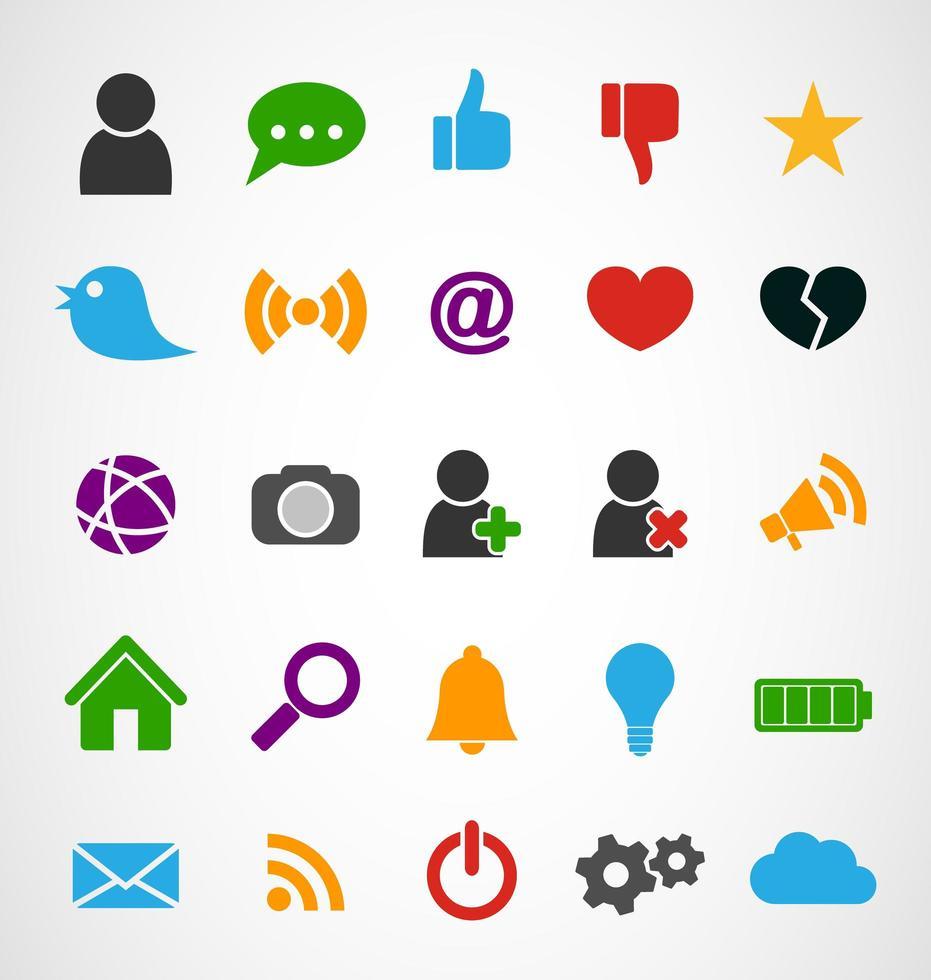 Ícones comuns da Web, vetor illustrator gráfico