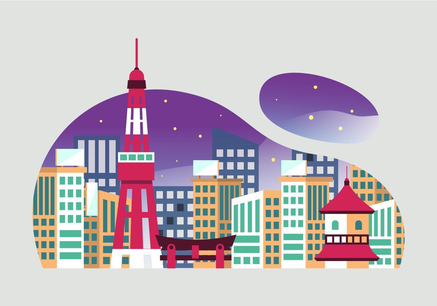 Tokyo Landmark vecteur