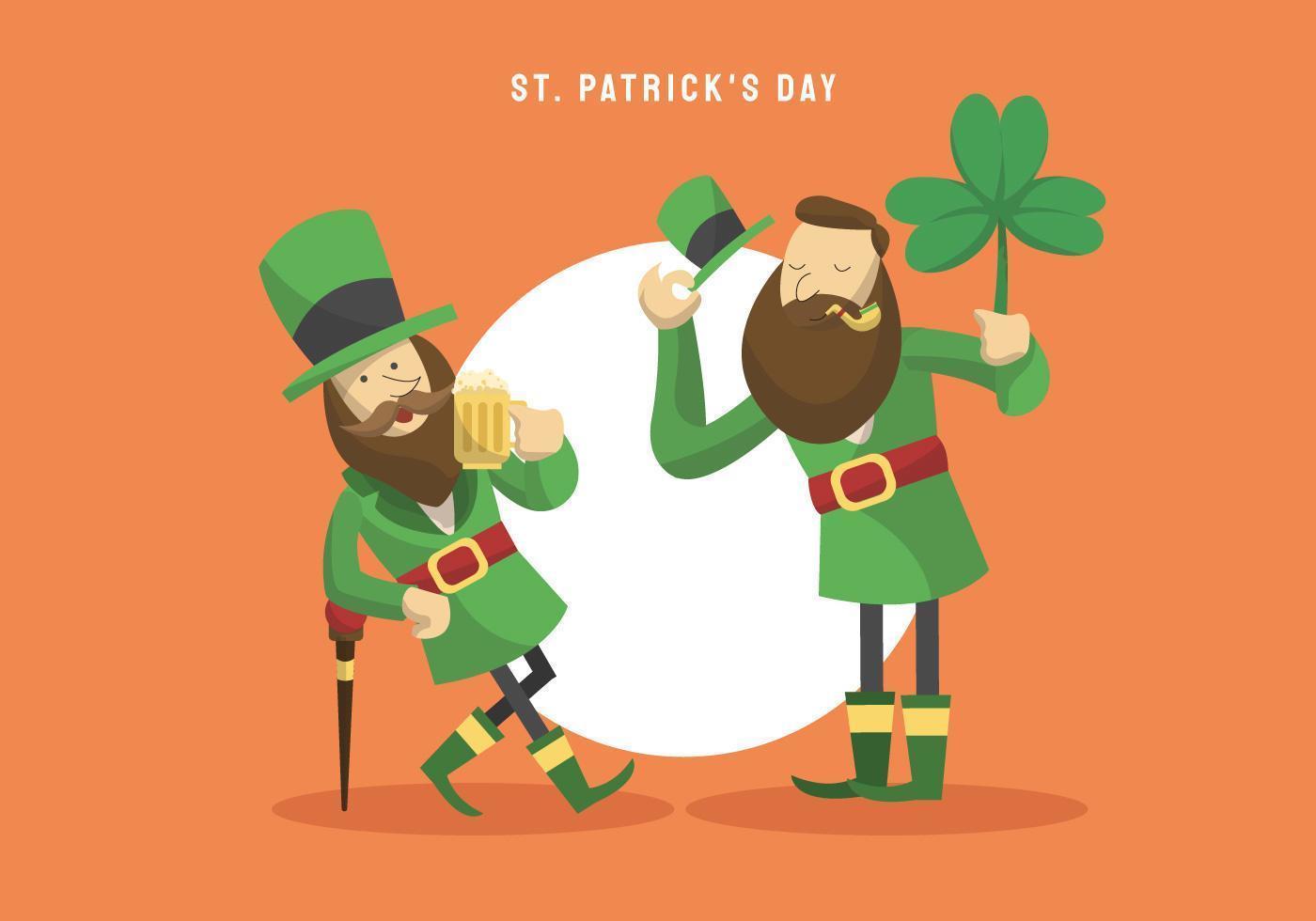 St Patricks Day personagem ilustração vetorial