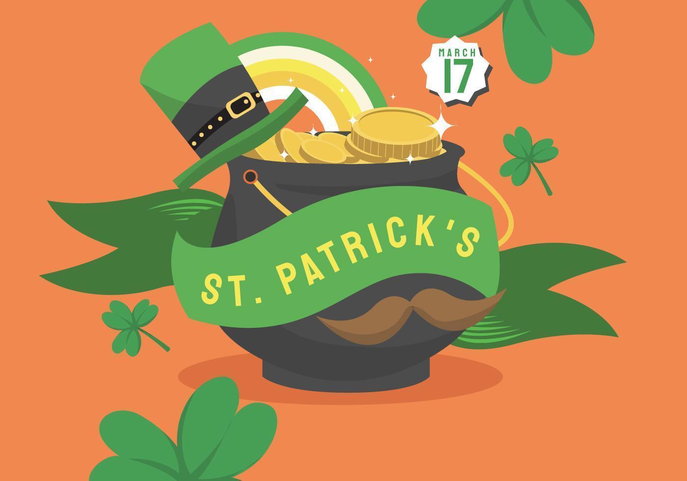 Vetor de Design de Banner de fundo de St Patricks Day