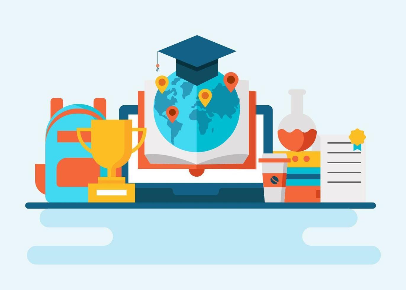 Vector de concepto de educación global